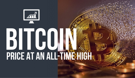 Bitcoin price at an all-time high in December 2020