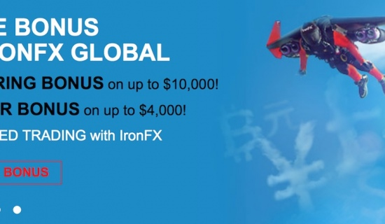 Welcome bonus offered by IronFX