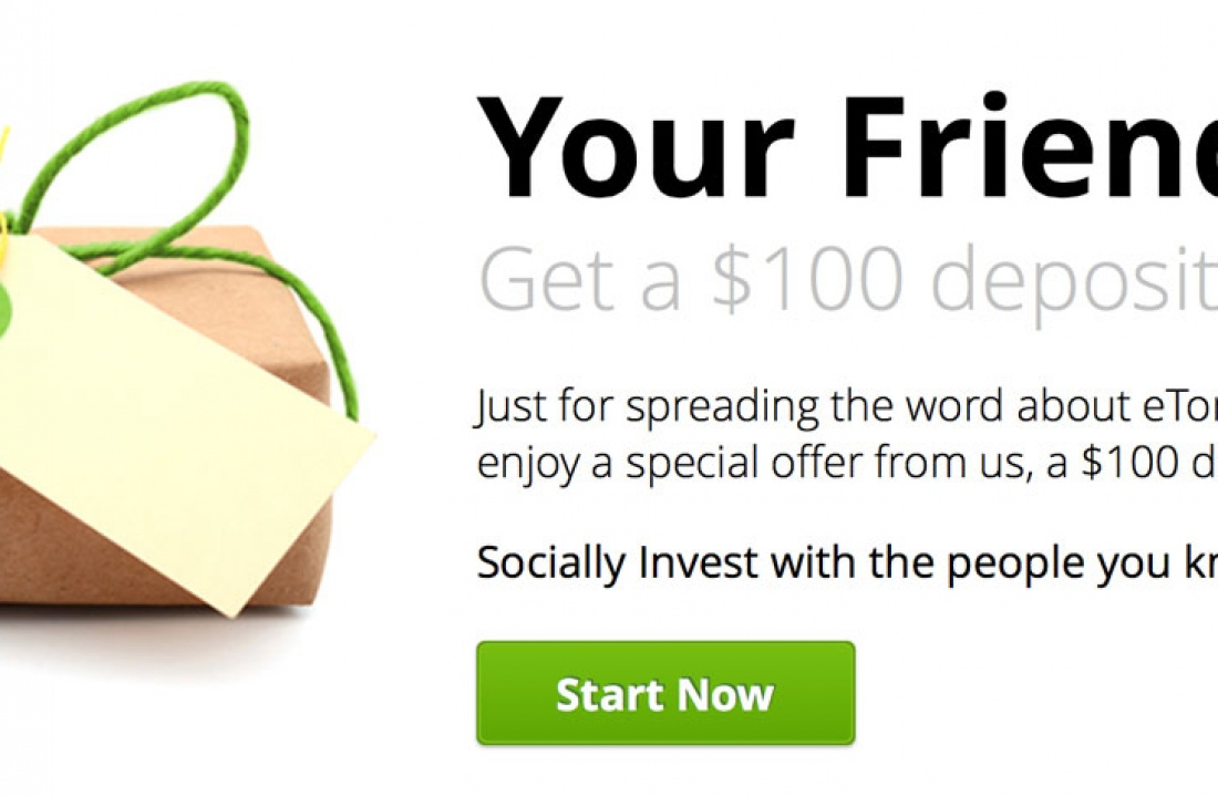 Refer-a-friend eToro offer