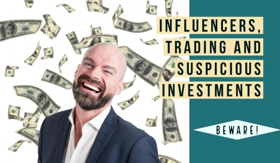 Influencers, trading and suspicious investments